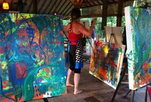 Bali Art Retreat / Photos and memories from my painting experience in Bali