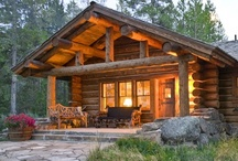 Cabins,homes.