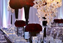 Table decorations - black glassware