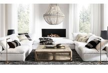 Living Room Decor / Unique living room styling. Modern and rustic interior design styles.