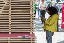 Clerkenwell Design Week / Clerkenwell Design Week 2016. Hakwood was the proud sponsor of a striking installation: HakFolly, designed and built by FleaFollyArchitects as a reference to the monastic past of London's St. Johns gate.