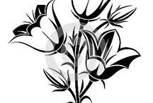 Siyah beyaz çini