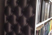 Tapet på möbler / Att tapetsera en bokhylla