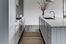 Narrow kitchen island
