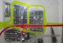 Centro Direzionale SDO Pietralata - Roma- volumi e percorsi scala 1:500