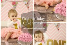 Baby Cake Smash Birthday Photo Shoot