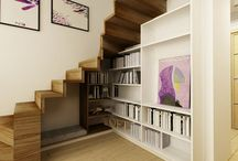 escalier bibliotheque