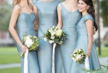 Cool Blue Bridesmaid Dresses