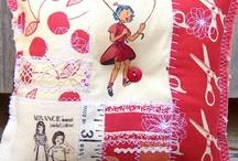 fabrics  / fabrics pillows materials  ideas in fabric   / by Lisa Molina