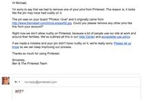 pinterest censors art - deleting my account