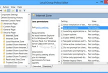 Disable or change Java Permissions using the Windows Group Policy Editor