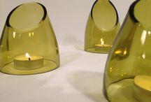 Luminárias de garrafas