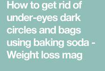Baking soda / Treating rash, teeth whitening, eye bags & dark circles removal, etc etc
