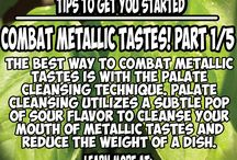 Tips to Combat Metallic Taste during Cancer Treatment / A 5 part series that teaches cancer caregivers how to over come the dreaded chemotherapy side-effect of metallic taste. Metallic taste can make even the most stubborn people refuse to eat. This side-effect is not just a nuisance but over time can compound with a deadly effect.