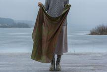 POET.KA scarves / Ecoprint scarves, eco fashion, slow fashion, ethnic style, bohemian style, hippie style.