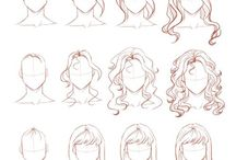 Hairstyle sketches