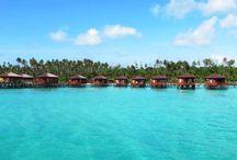 Maratua Island Derawan archipelago East Kalimantan Indonesia / Maratua Island is the biggest Island in Derawan archipelago