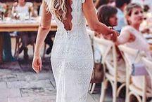 Weeding dress and hair