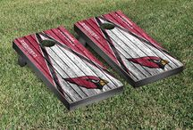 "NFL | Are you ready for some football?! | Victory Tailgate / Victory Tailgate is an officially licensed NFL football cornhole game manufacturer and are made proudly in the USA. Each game set comes with two 24""x48"" regulation boards with folding legs, a complete bag set (8 bags), and a FREE string pack to carry the bags."