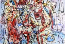 jevgenij goldin / Drunken Nymphes.   Watercolour on paper, 19x14