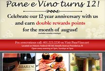 News and Special Events at Pane E Vino