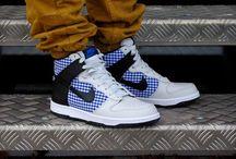 Nike Dunk High Premium 317891 006 Neutral Grey/Black-Varsity Royal-White