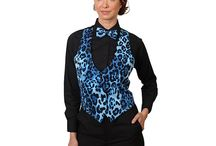 Theme Vests for Women / There are vests available for special occasions with themes. Wear character vests to a disco party, or wear to a costume party, prom or wedding.  / by Six Star Uniforms