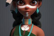 Dolls. Digital 3D