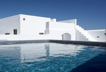 "Villa Fabrica #Santorini #Greece / 2-16 GUESTS, 8 BEDROOMS Villa Fabrica is located at the picturesque village of Pyrgos Kallistis (Pyrgos means ""Tower"") on the island of Santorini. Pyrgos is situated 5 km away from the island's capital Fira, 6 km away from Santorini International Airport and 5 km from Athinios port."
