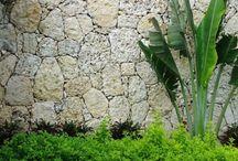 outdoor rock wall ideas