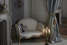 Imperiale (January 2016) / A stately and imposing collection of decorative fabrics. Opulent jacquard weaves and embroideries portrayed in indulgent shades of ebony, antique gold and ivory.