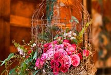 Bird caged flowers