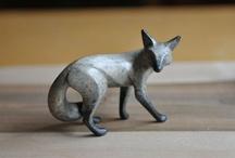 Sculptures Foxes