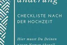 Checkliste nach Hochzeit