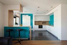 Цветовое решение кухни-гостинной