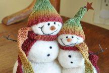 Sněhuláci - jehlové plstění