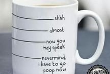 White Coffee Mugs I love.