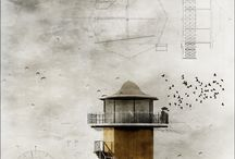 architectural sketches-drawings
