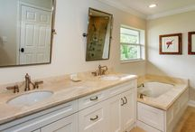 Crema Marfil Marble Bathroom, Kitchen, and Fireplace