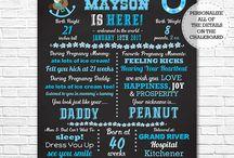 Blue Western Cowboy Baby Shower