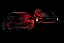 Kia Pro_Ceed GT Concept 2012 / Kia Concept cars show the evolution of Kia's sleek design and innovative engineering. Here are the first official sketches of the Proceed GT. Kia has confirmed the car will get over 200bhp, and boast a 7.9sec 0-62mph time.