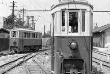 Old Japan trams