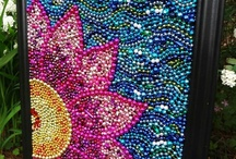 cool pictures made from beads buttons glitter sequence