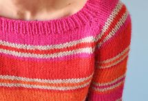 Striped cardi / Knitted