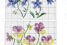 Counted cross stitch to Quilt block