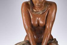 sculpture en cours de face