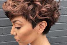 Krøllete hår korte frisyrer