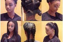 HAIR / Inspirations de plusieurs coupes courtes, longues, avec foulards, chignons, tie & dye, etc.