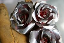 flor com lata de alumínio