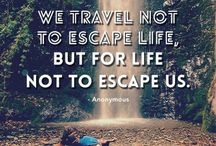 Inspirational Travel Quotes / Words that inspire you to travel the world. godriftaway.com.